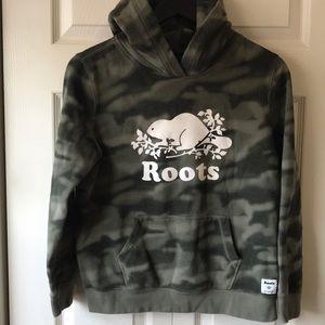 Kids Roots camo sweatshirt